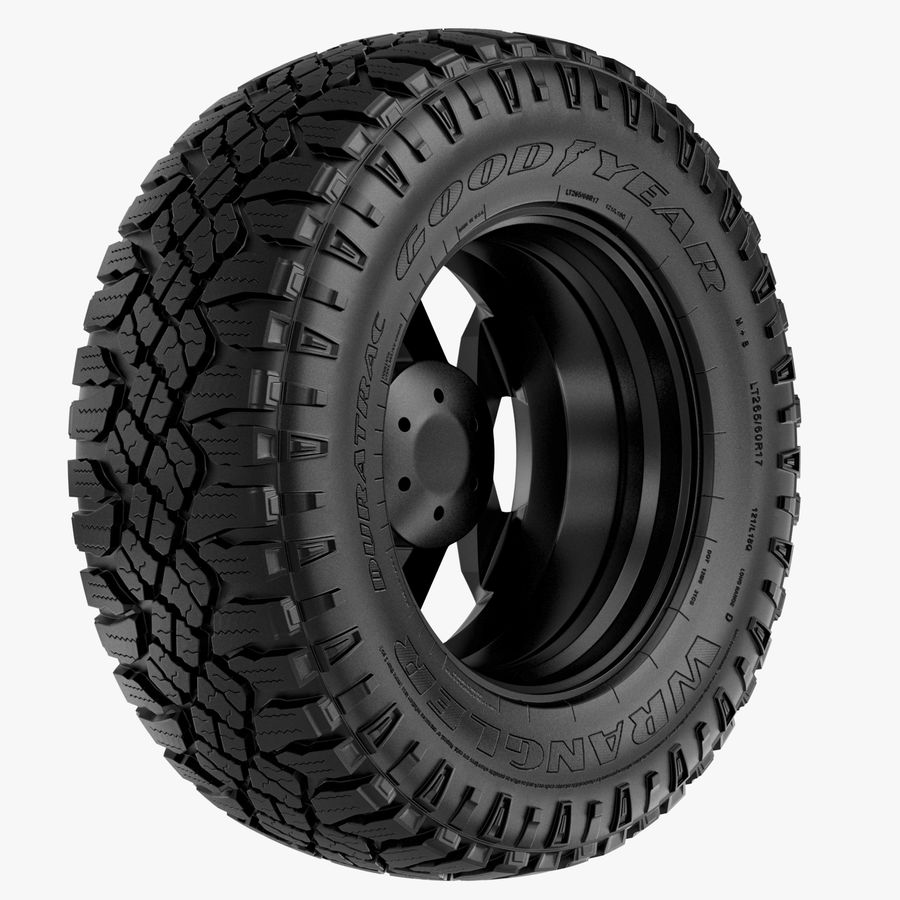 Off Road Wheel XD & WRANGLER royalty-free 3d model - Preview no. 5