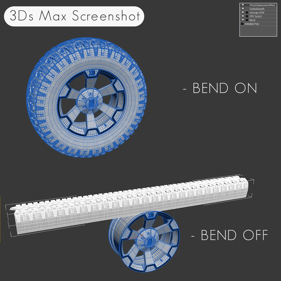 Off Road Wheel XD & WRANGLER royalty-free 3d model - Preview no. 13