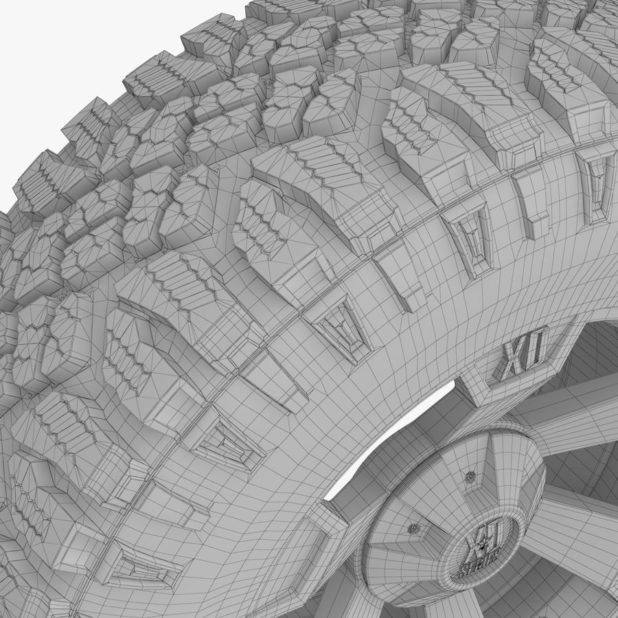 Off Road Wheel XD & WRANGLER royalty-free 3d model - Preview no. 10