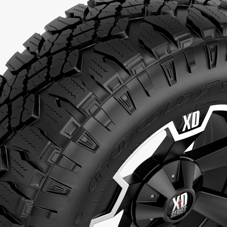 Off Road Wheel XD & WRANGLER royalty-free 3d model - Preview no. 4