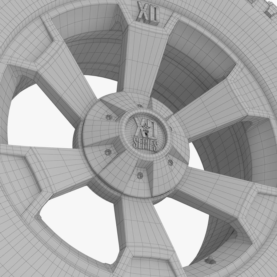 Off Road Wheel XD & WRANGLER royalty-free 3d model - Preview no. 9