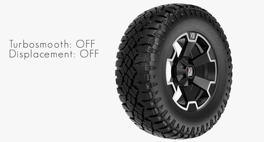 Off Road Wheel XD & WRANGLER royalty-free 3d model - Preview no. 6