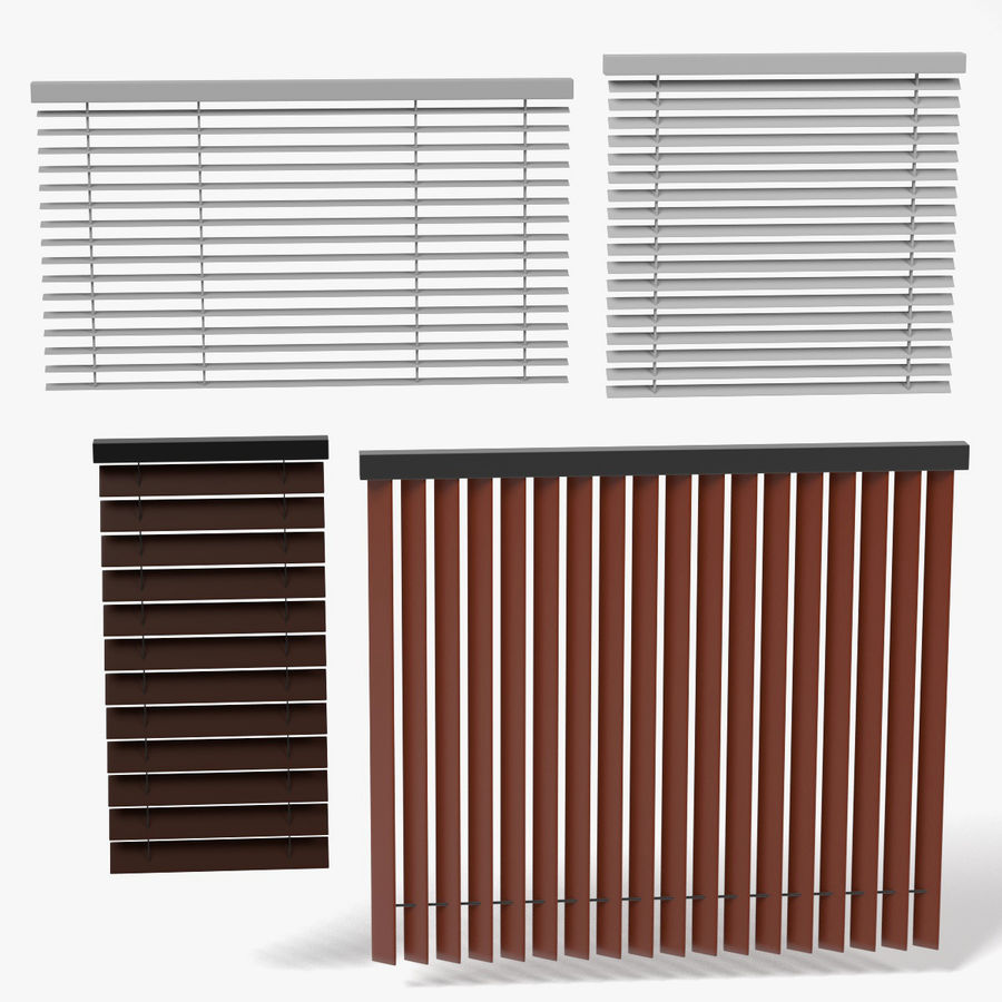 Blinds Set royalty-free 3d model - Preview no. 1