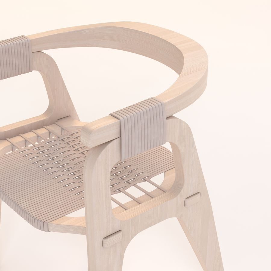 Bind B1 Diy Chair od Studio Klaer royalty-free 3d model - Preview no. 9