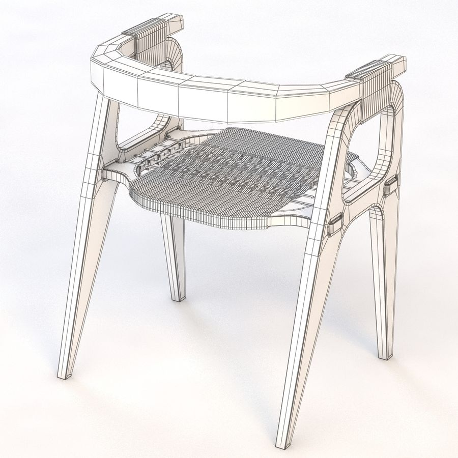 Studio KlaerのバインドB1 Diyチェア royalty-free 3d model - Preview no. 8