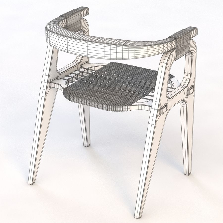 Studio KlaerのバインドB1 Diyチェア royalty-free 3d model - Preview no. 7