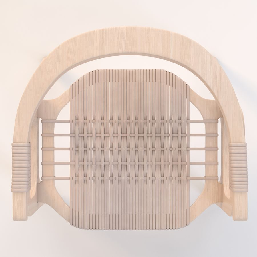 Bind B1 Diy Chair od Studio Klaer royalty-free 3d model - Preview no. 12