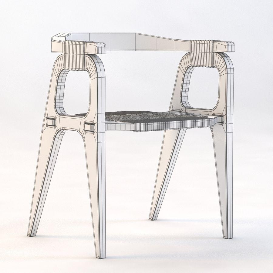 Studio KlaerのバインドB1 Diyチェア royalty-free 3d model - Preview no. 4