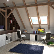 Home Office in the Attic 3d model