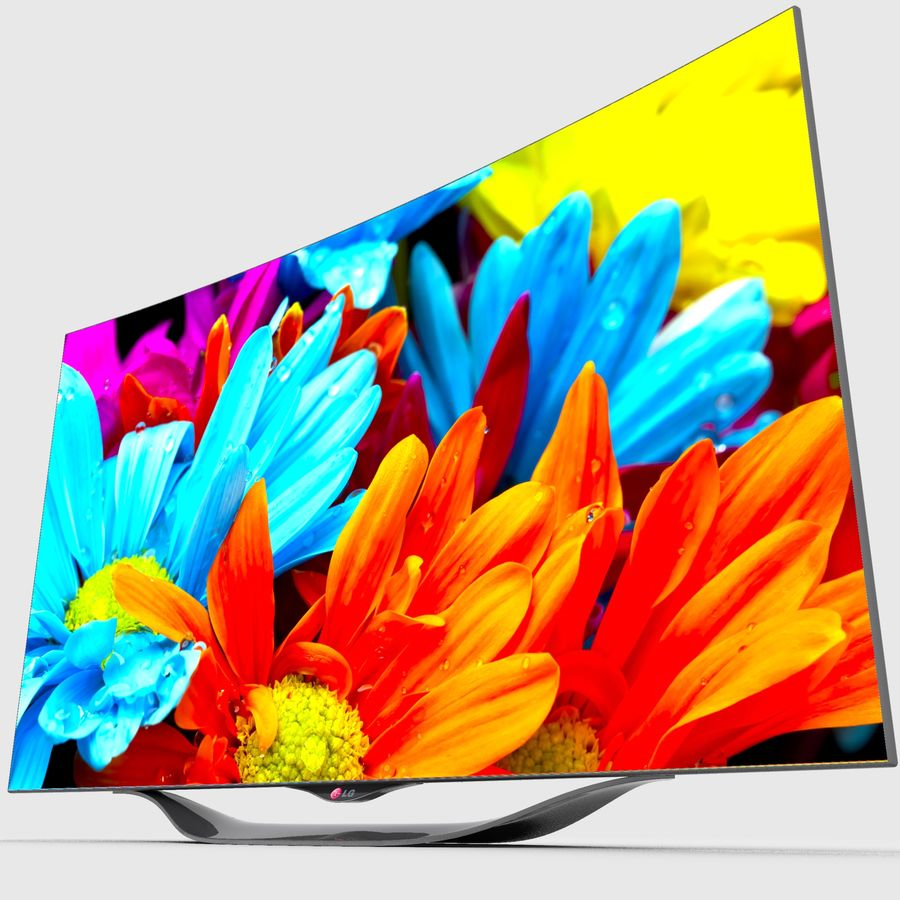 LG OLED Smart TV royalty-free 3d model - Preview no. 14