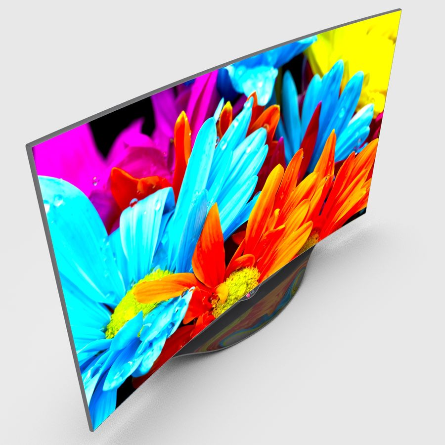 LG OLED Smart TV royalty-free 3d model - Preview no. 9