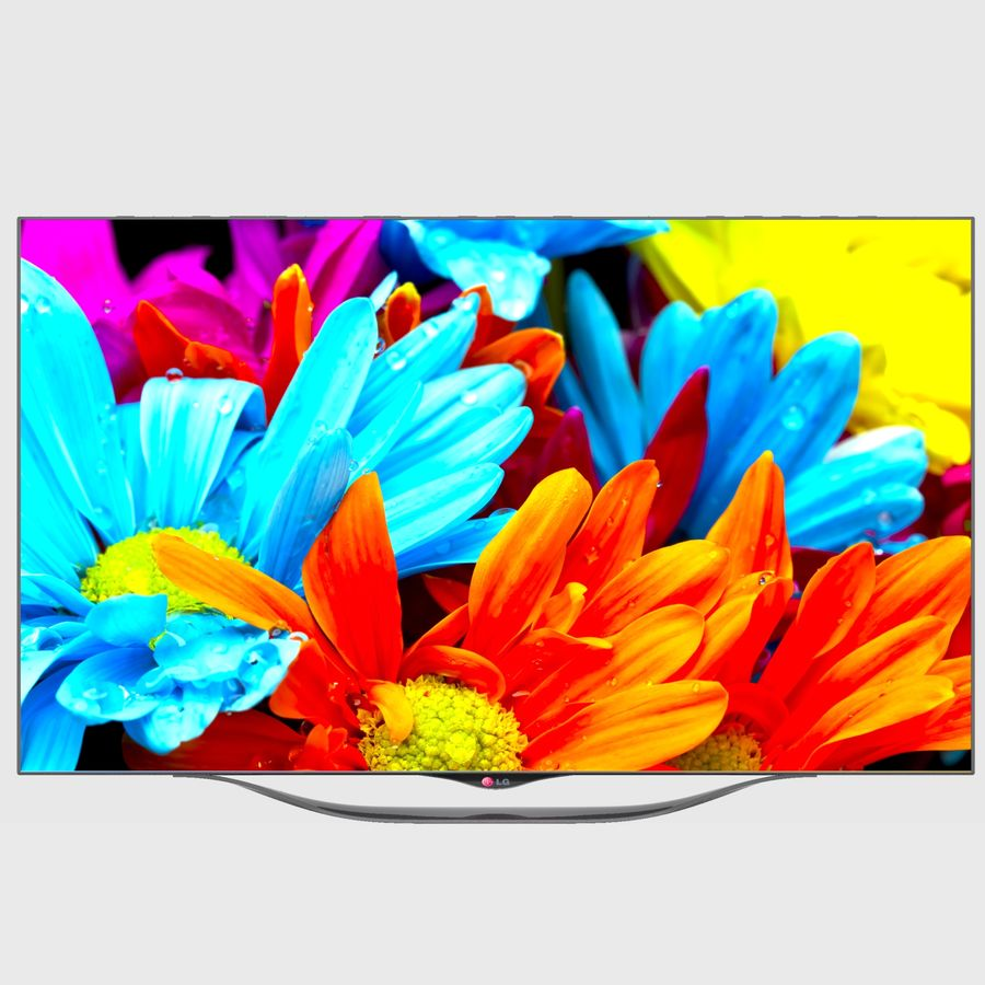 LG OLED Smart TV royalty-free 3d model - Preview no. 10