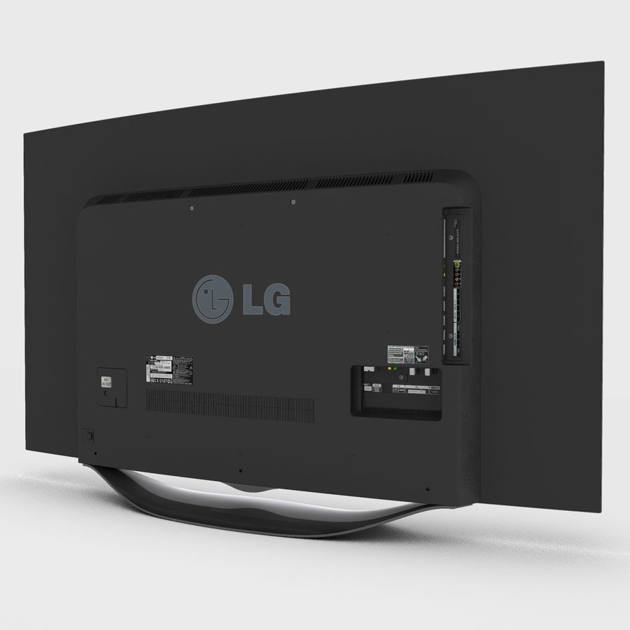 LG OLED Smart TV royalty-free 3d model - Preview no. 19
