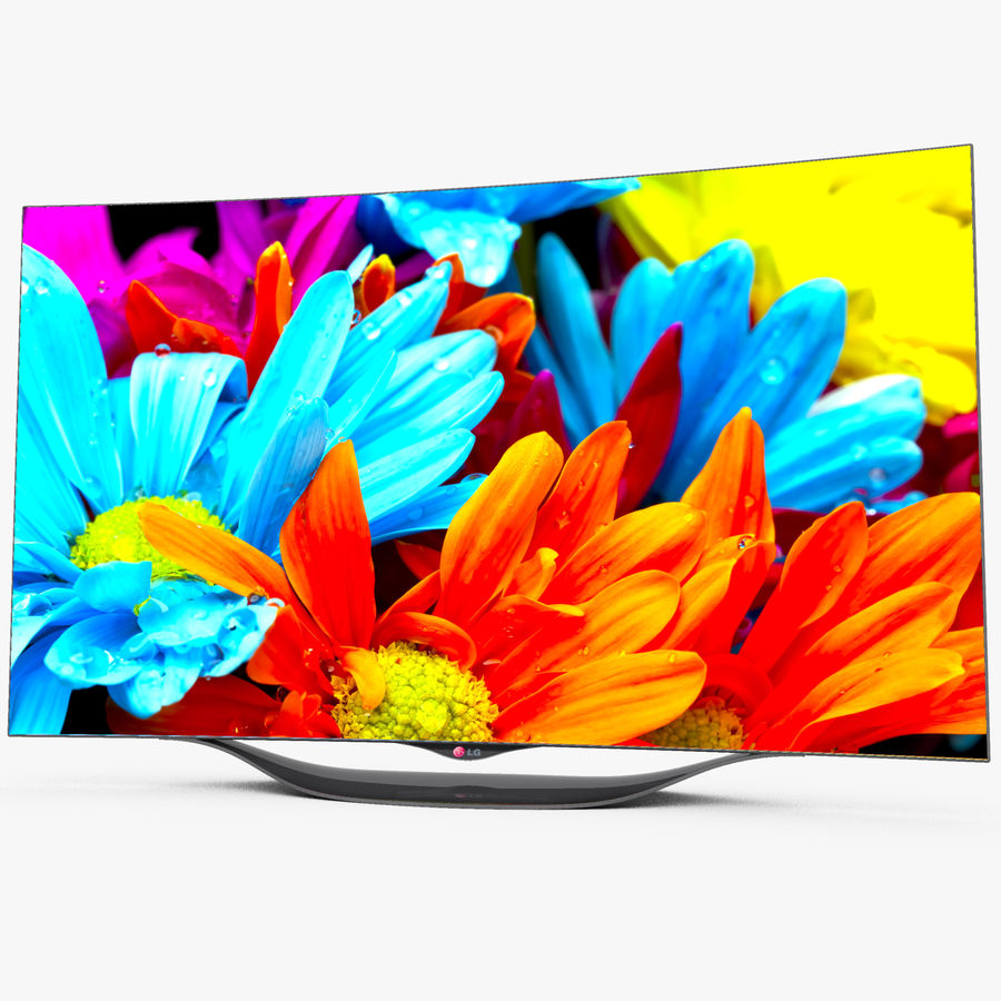 LG OLED Smart TV royalty-free 3d model - Preview no. 2