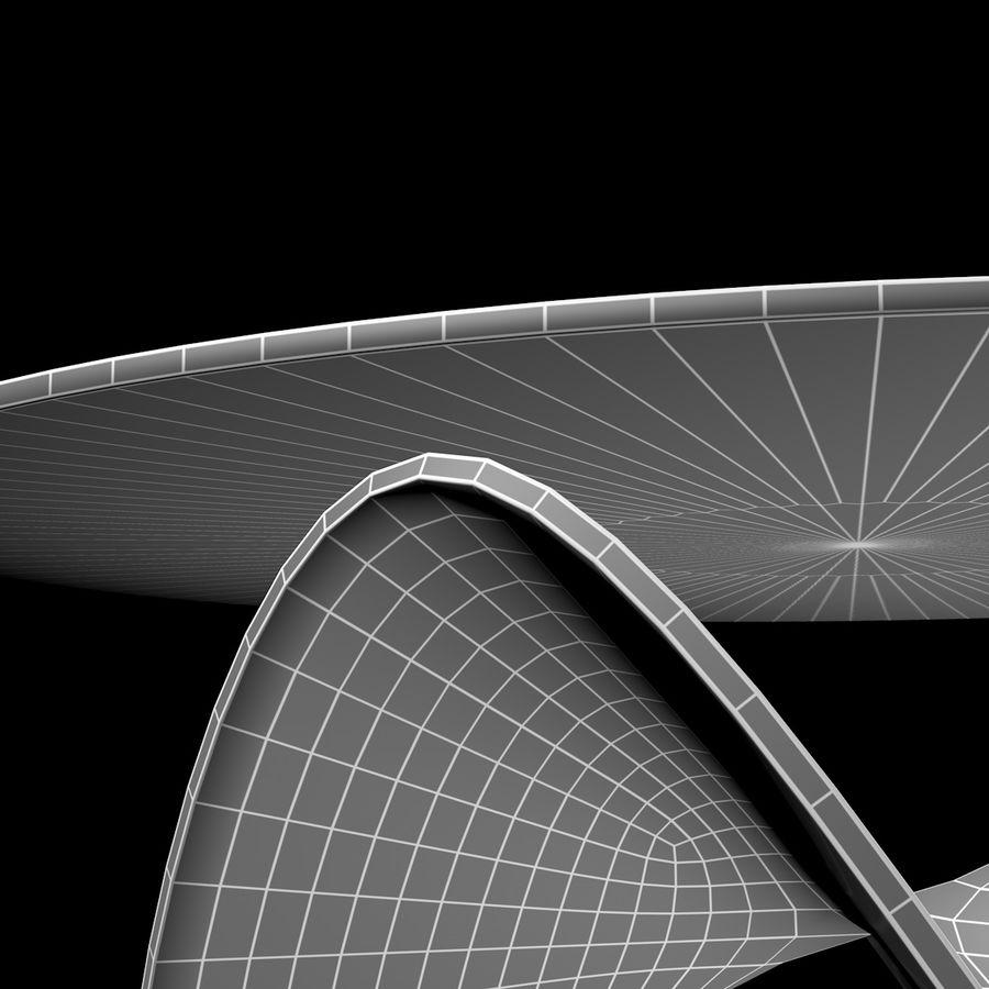波浪设计咖啡桌 royalty-free 3d model - Preview no. 13