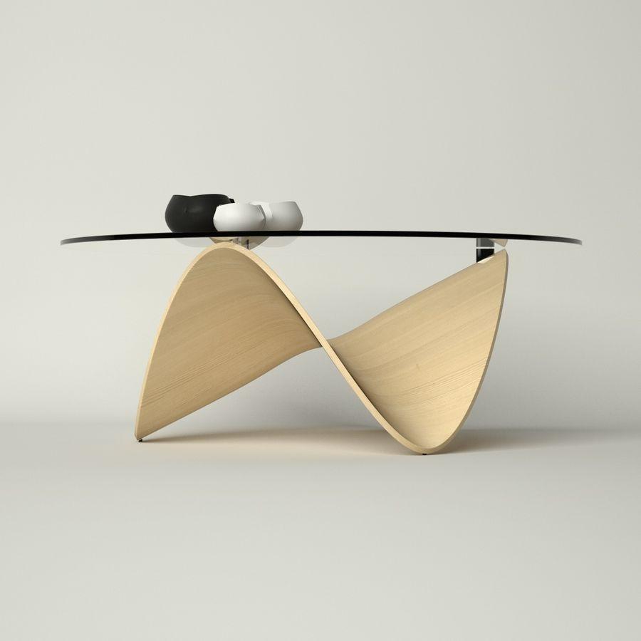 波浪设计咖啡桌 royalty-free 3d model - Preview no. 4