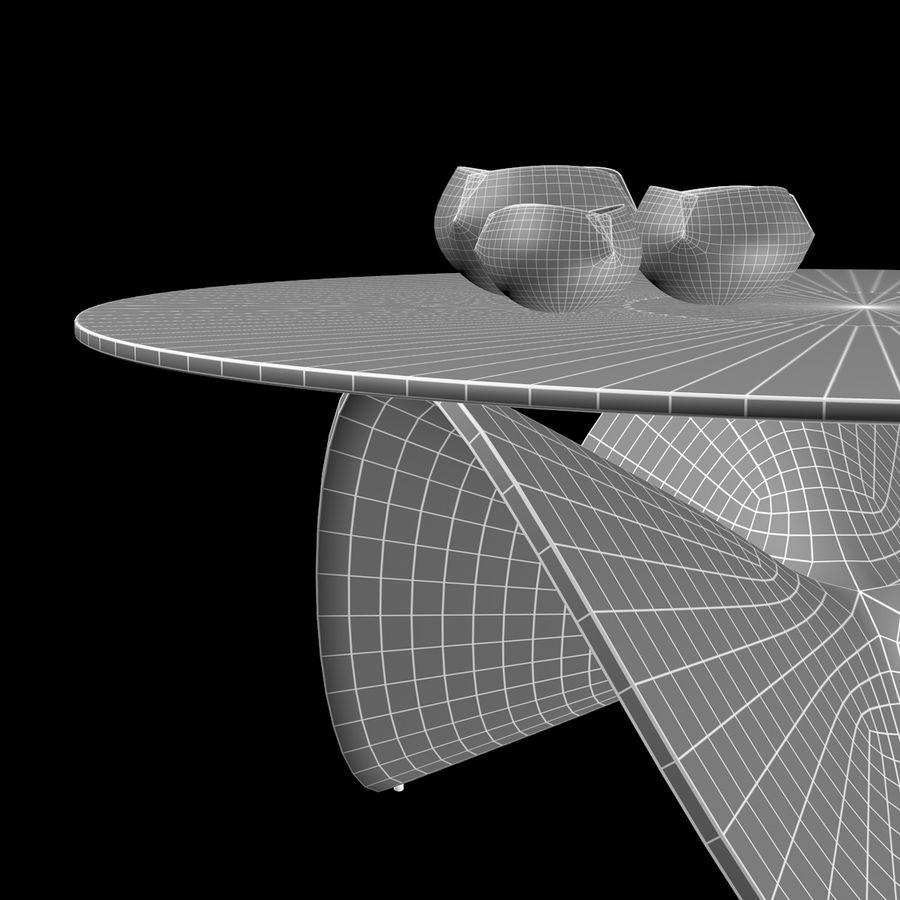波浪设计咖啡桌 royalty-free 3d model - Preview no. 12