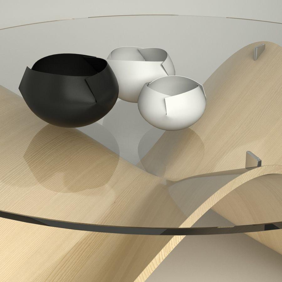 波浪设计咖啡桌 royalty-free 3d model - Preview no. 6