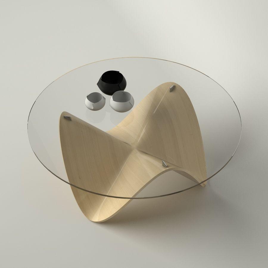 波浪设计咖啡桌 royalty-free 3d model - Preview no. 3