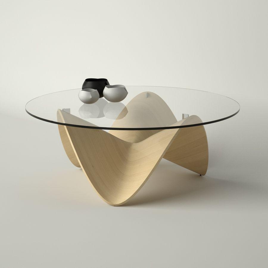 波浪设计咖啡桌 royalty-free 3d model - Preview no. 2