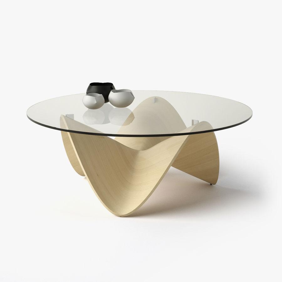 波浪设计咖啡桌 royalty-free 3d model - Preview no. 1