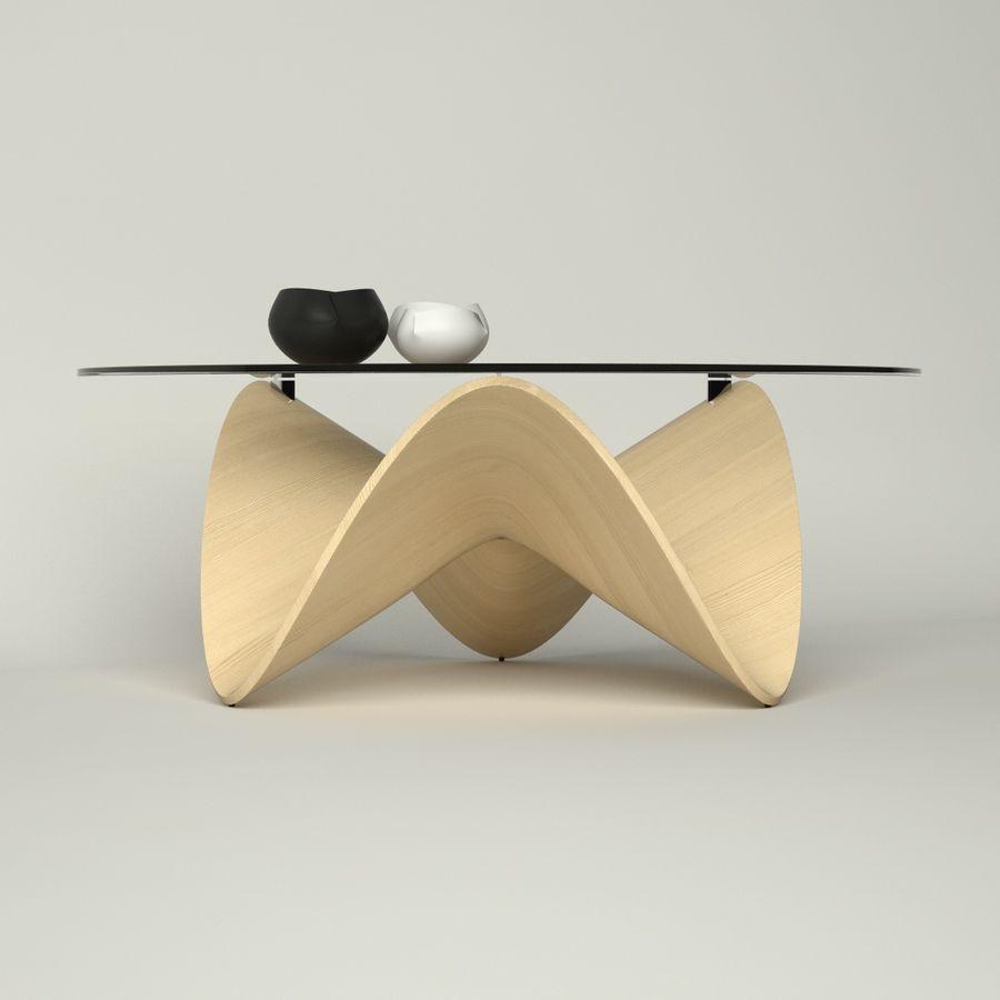 波浪设计咖啡桌 royalty-free 3d model - Preview no. 5