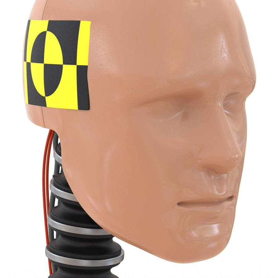 Man Crash Test Dummy Head royalty-free 3d model - Preview no. 13