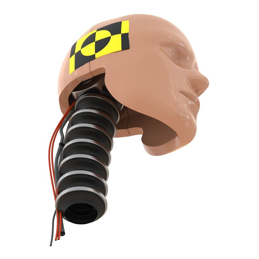 Man Crash Test Dummy Head royalty-free 3d model - Preview no. 12