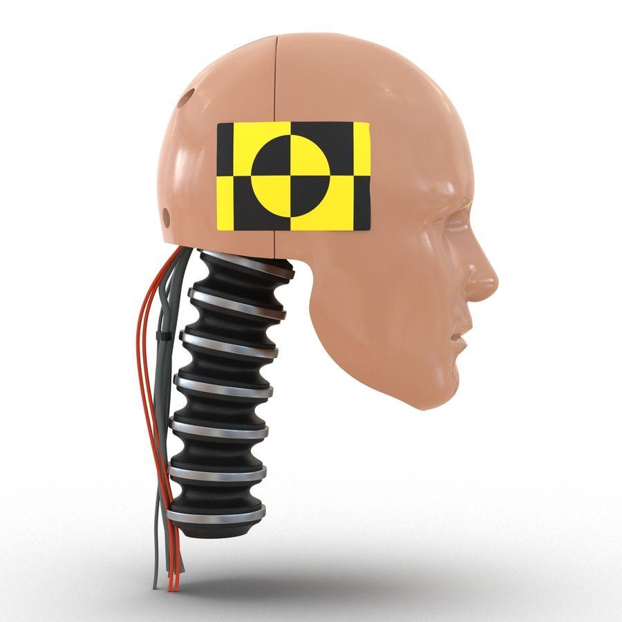 Man Crash Test Dummy Head royalty-free 3d model - Preview no. 5