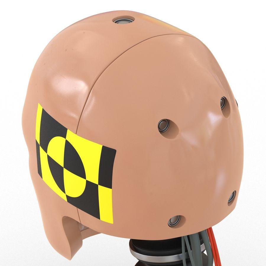 Man Crash Test Dummy Head royalty-free 3d model - Preview no. 14