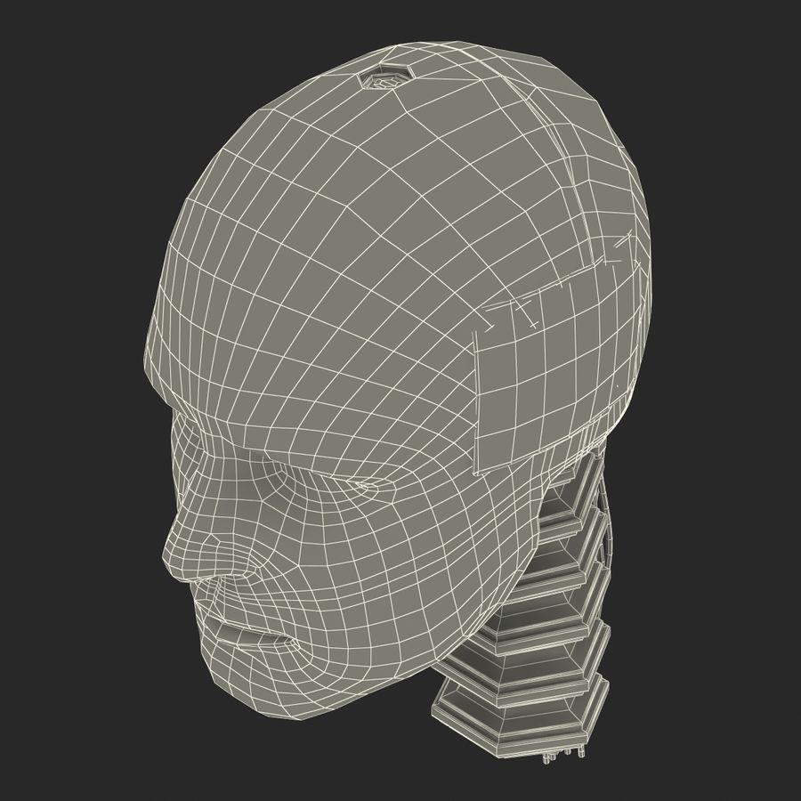 Man Crash Test Dummy Head royalty-free 3d model - Preview no. 24