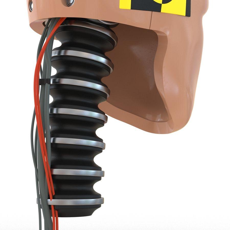 Man Crash Test Dummy Head royalty-free 3d model - Preview no. 15