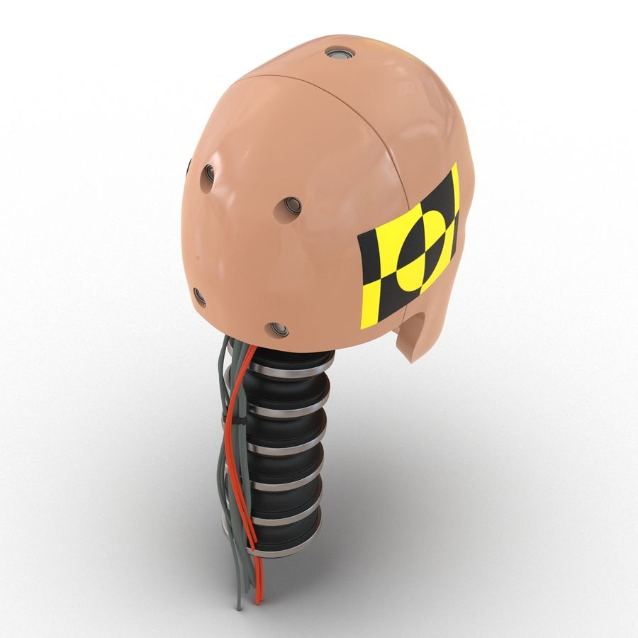 Man Crash Test Dummy Head royalty-free 3d model - Preview no. 11