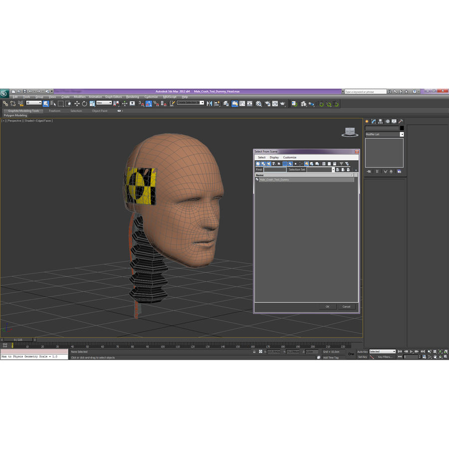 Man Crash Test Dummy Head royalty-free 3d model - Preview no. 21