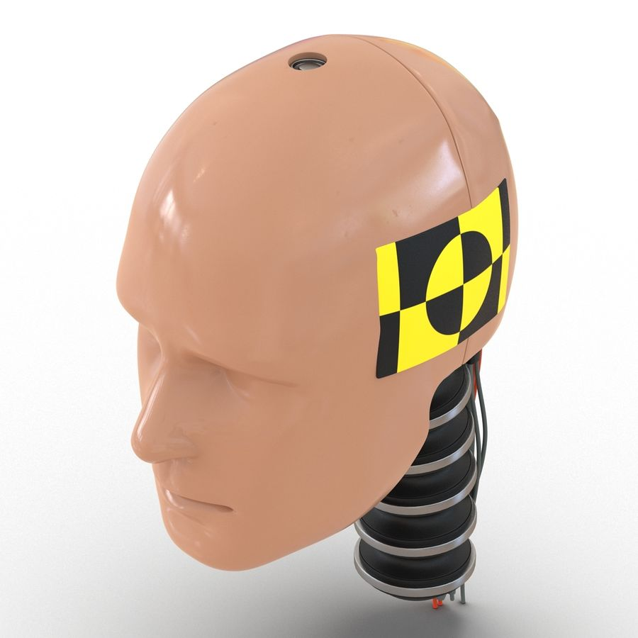 Man Crash Test Dummy Head royalty-free 3d model - Preview no. 10