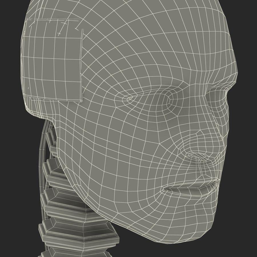 Man Crash Test Dummy Head royalty-free 3d model - Preview no. 27