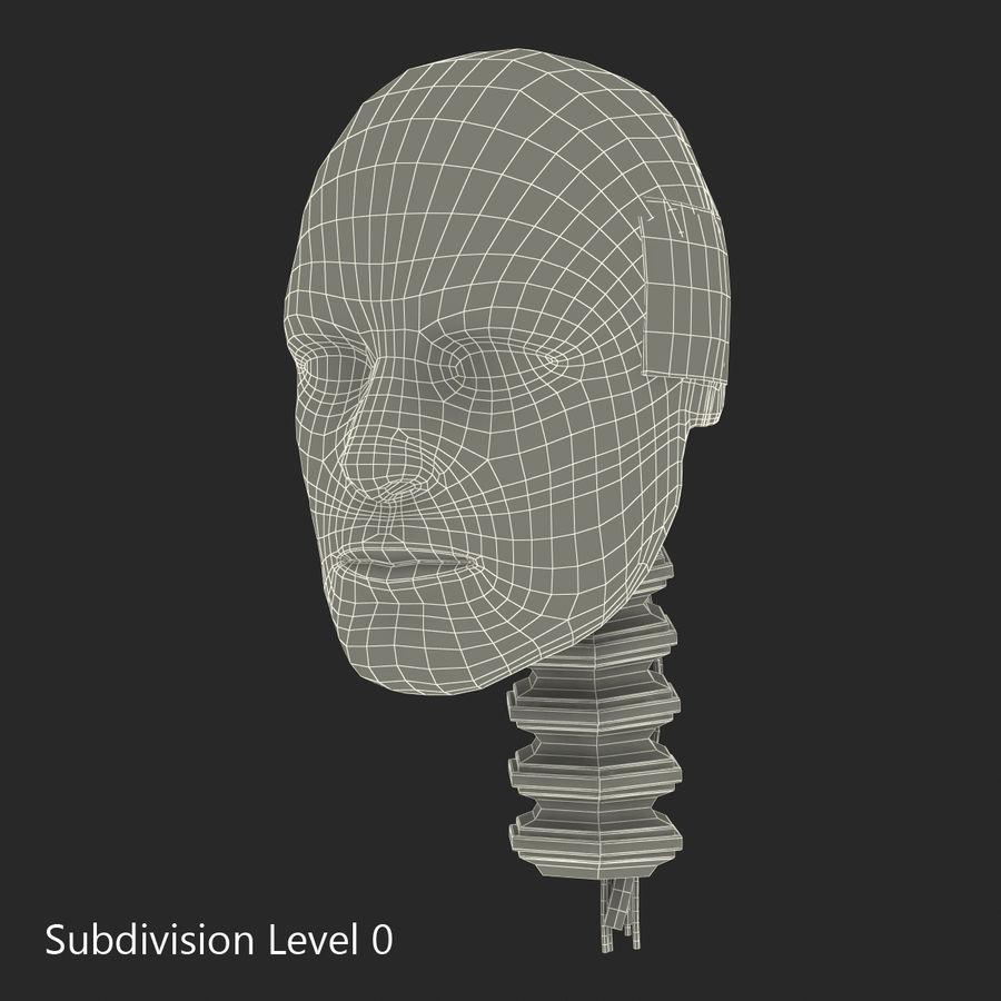 Man Crash Test Dummy Head royalty-free 3d model - Preview no. 16