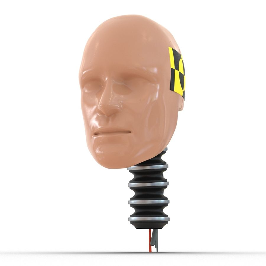Man Crash Test Dummy Head royalty-free 3d model - Preview no. 9
