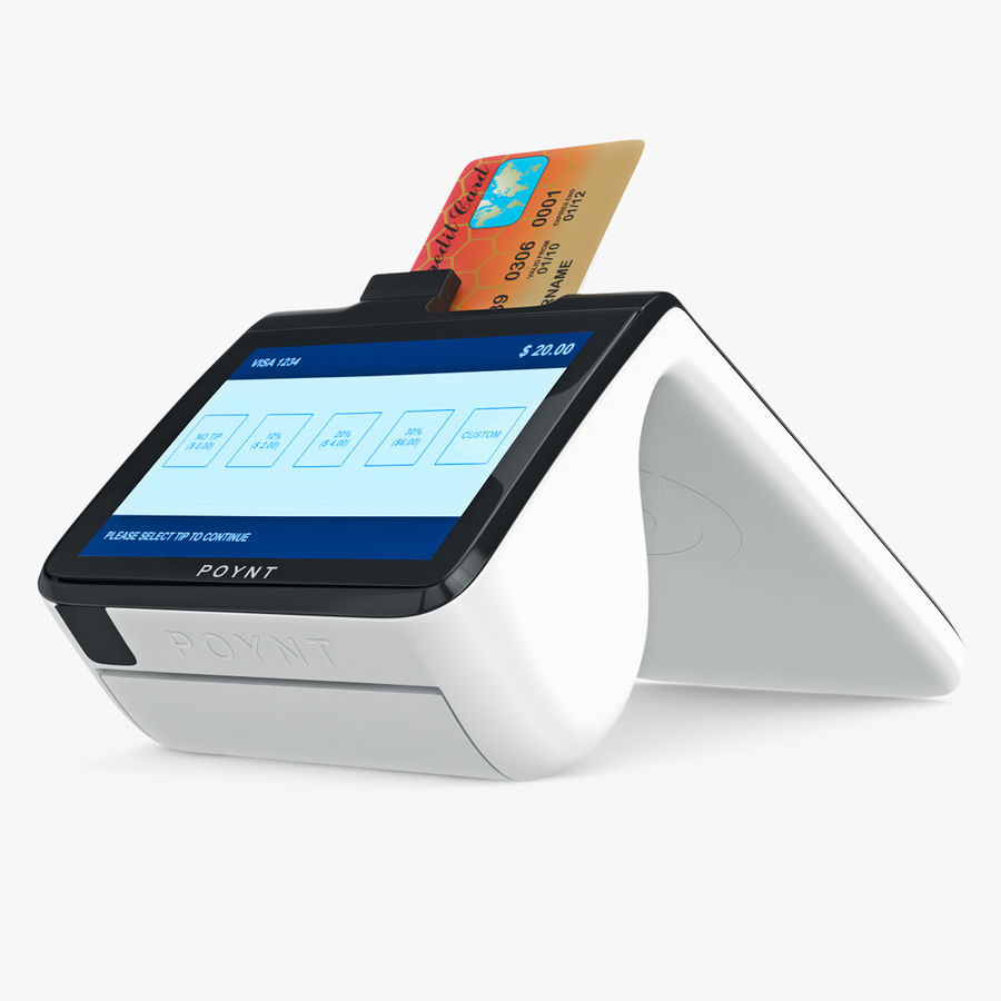 Poynt Smart Payment Terminal royalty-free 3d model - Preview no. 9