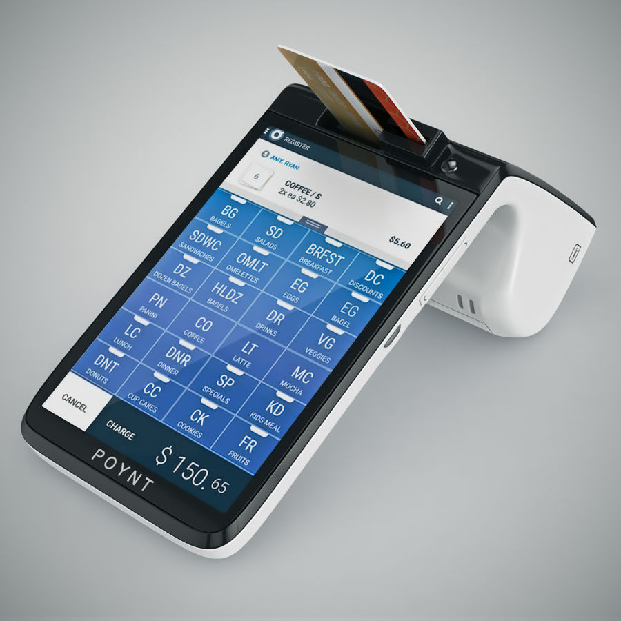 Poynt Smart Payment Terminal royalty-free 3d model - Preview no. 17