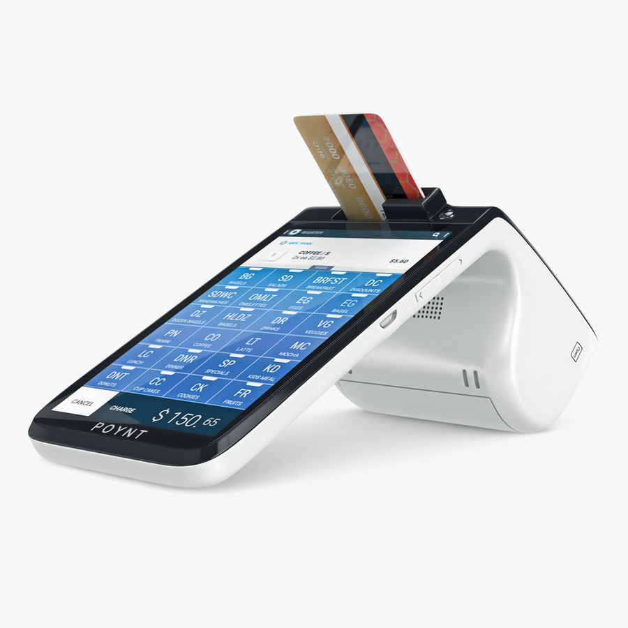 Poynt Smart Payment Terminal royalty-free 3d model - Preview no. 1