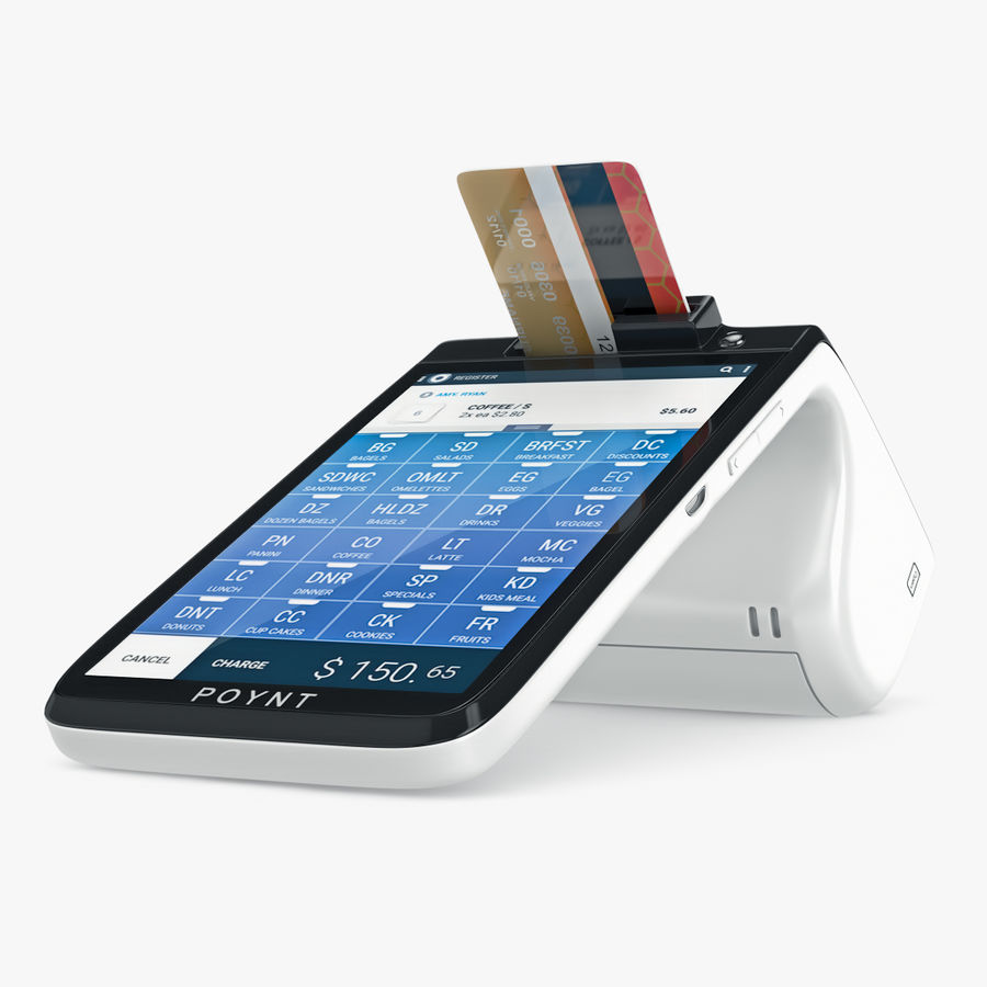 Poynt Smart Payment Terminal royalty-free 3d model - Preview no. 7