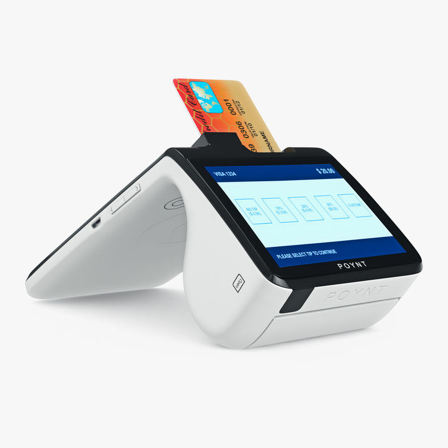 Poynt Smart Payment Terminal royalty-free 3d model - Preview no. 4