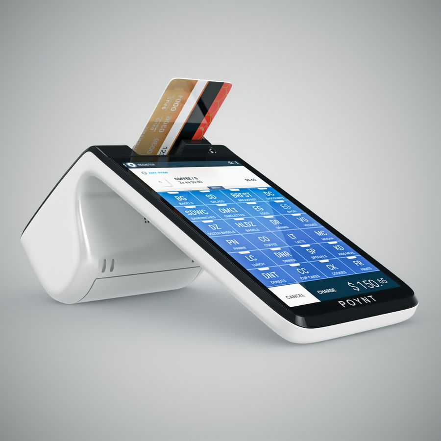 Poynt Smart Payment Terminal royalty-free 3d model - Preview no. 12