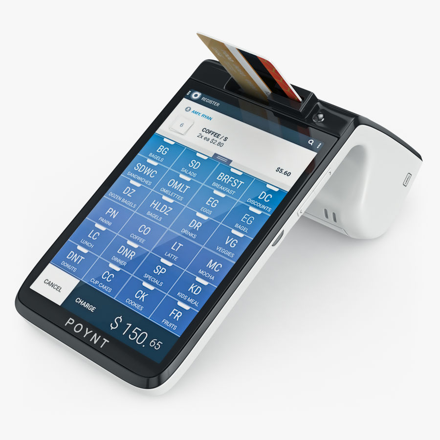 Poynt Smart Payment Terminal royalty-free 3d model - Preview no. 8
