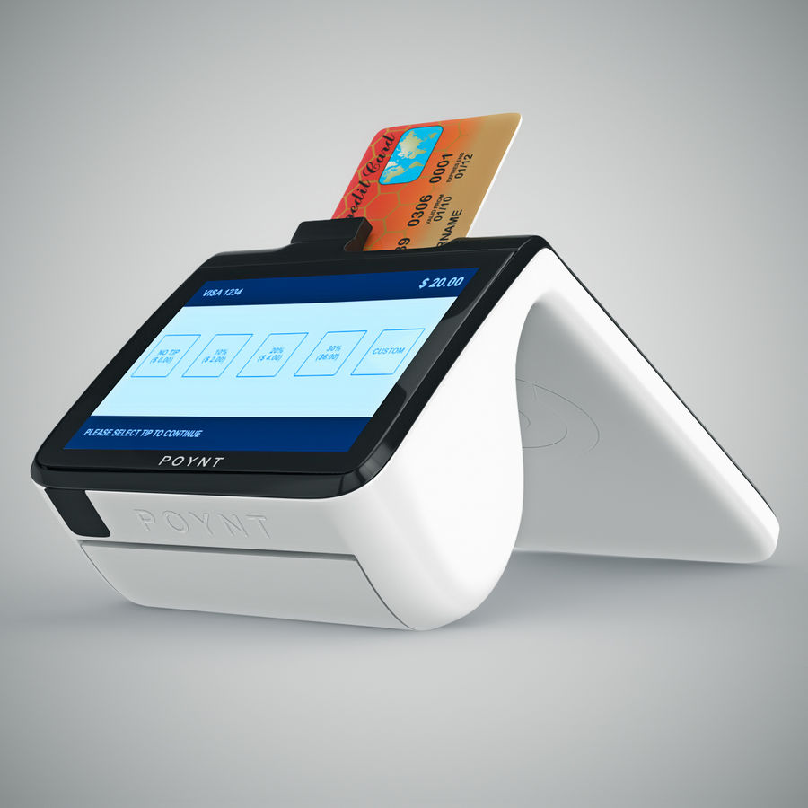 Poynt Smart Payment Terminal royalty-free 3d model - Preview no. 18