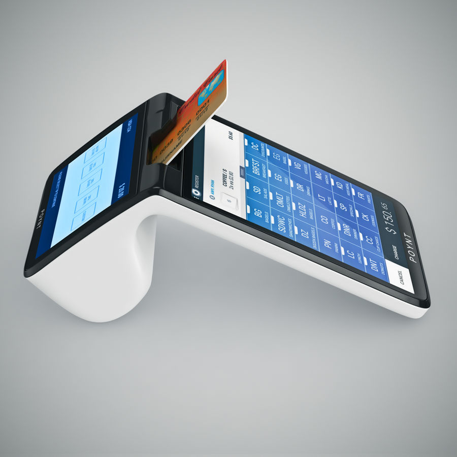 Poynt Smart Payment Terminal royalty-free 3d model - Preview no. 14