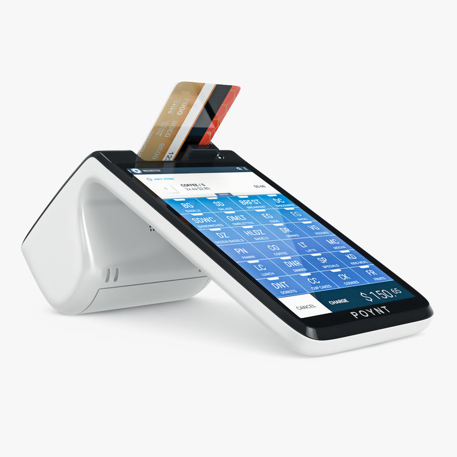 Poynt Smart Payment Terminal royalty-free 3d model - Preview no. 3