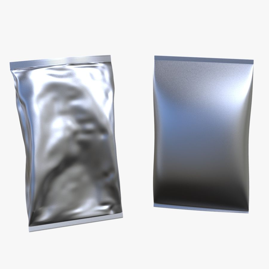 2 Bags Packaging royalty-free 3d model - Preview no. 1