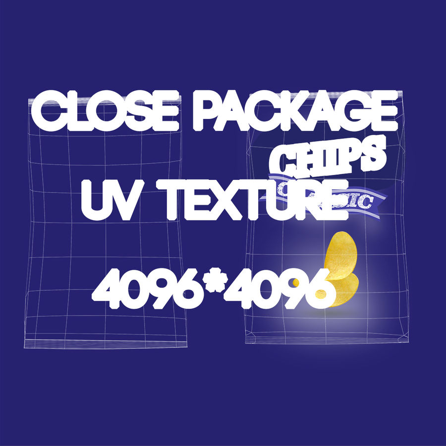 2 Bags Packaging royalty-free 3d model - Preview no. 16